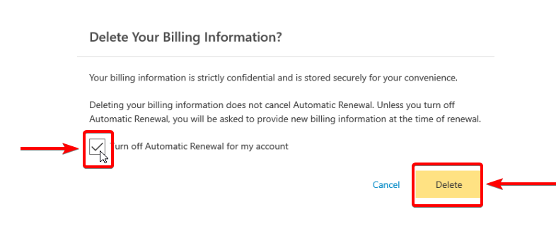 Remove your billing information from Norton - Softwarehulp