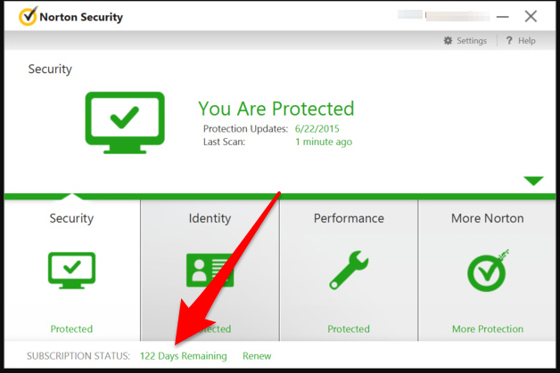 Norton Security verloopdatum opzoeken